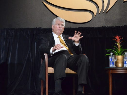 President Hitt delivers his State of the University