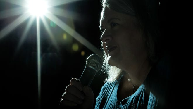 Sarah Stevens performs stand up on Sunday, Jan. 28, 2017.  Stevens' stage name is Sarah Q. and her comedy is based around her life experiences. She estimates about 85 percent of her skits are actual events she has lived through and she does not need to exaggerate them to make them funny.