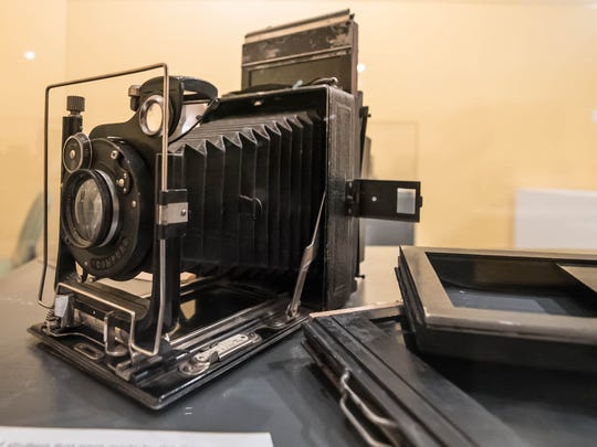 One of the many cameras on display as part of Kingman Museum's photography exhibit.