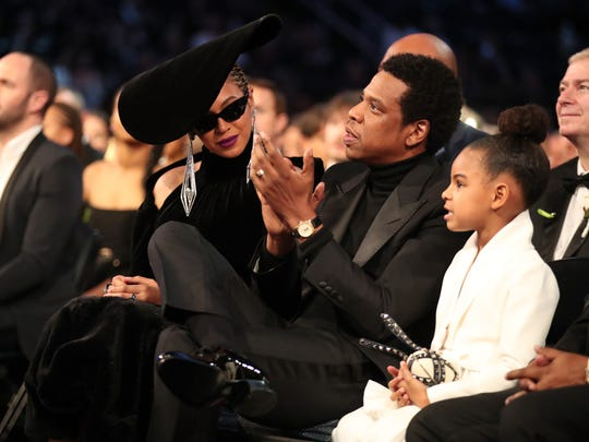 We have spotted Queen B with Jay-Z and Blue Ivy.
