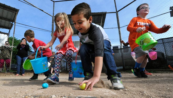 Reporter-News file photo of Easter egg hunt at Jim Ned Elementary School's Lawn campus.
