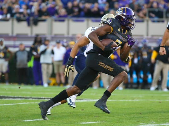 Zay Jones ran a 4.45 in the 40-yard dash at the combine and his draft stock is now soaring.