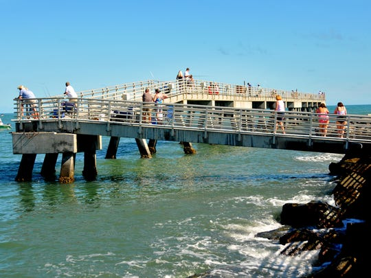 The fishing pier at Jetty Park has reopened after being