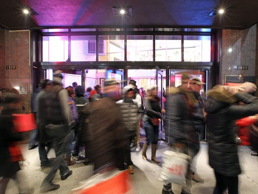 Macy's reported record numbers of shoppers onThanksgiving