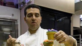 """Cake Boss"" Buddy Valastro came to Bing's Bakery in October 2013 to film his new TV series."