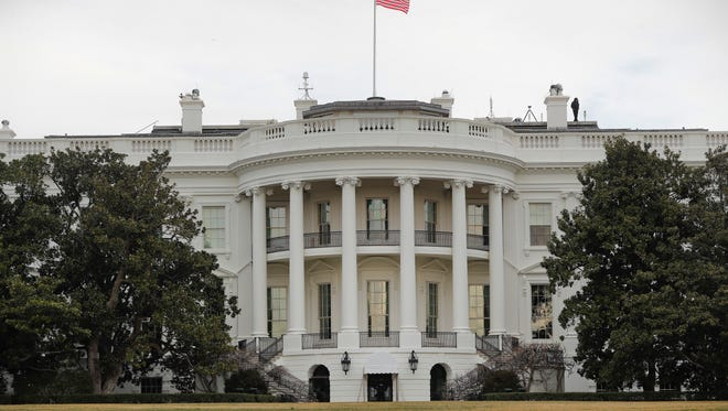 The White House in Washington as seen from the South Lawn, Thursday, Feb. 2, 2017. (AP Photo/Pablo Martinez Monsivais)
