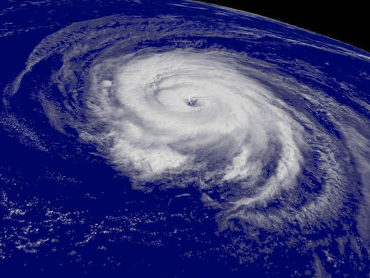 A satellite image shows Hurricane Helene spinning in the Atlantic in 2006. Scientists say we could be entering a quiet era for Atlantic hurricanes.