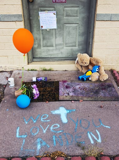 People have left candles, stuffed animals and messages