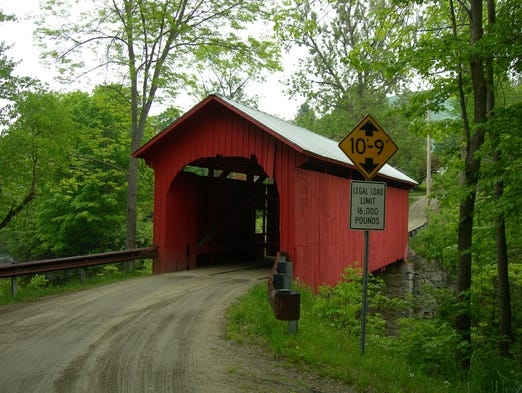 Crossing the Dog River in Northfield, Vt., is the Slaughter