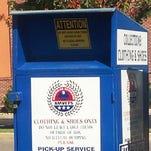 AMVETS donation box