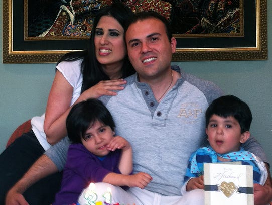 Saeed Abedini and family