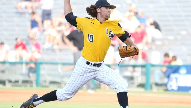 Jake Winston pitched 1 1/3 innings in Southern Miss' 7-2 loss to Florida State on Saturday in the Tallahassee Regional.