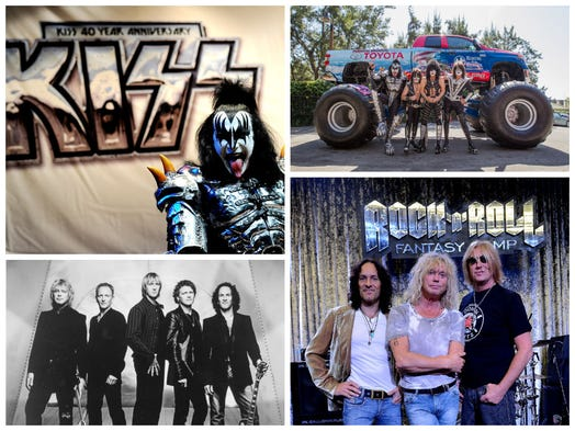 The hair bands are back now with varying amounts of hair. 1980s classic bands Kiss and Def Leppard are hitting the road for a 42-city North American tour that begins June 23. Take a look at the bands through their generations of fame.