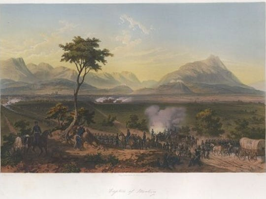 The Battle of Monterrey, after a drawing by Carl Nebel. Library of Congress.