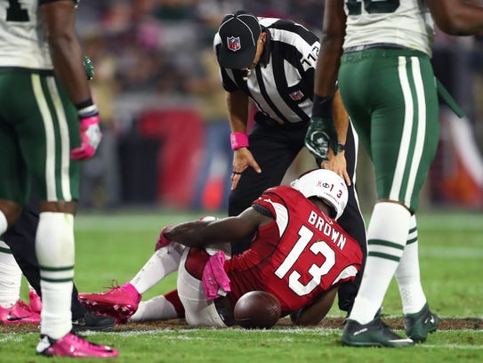 Oct 17, 2016: Arizona Cardinals wide receiver Jaron