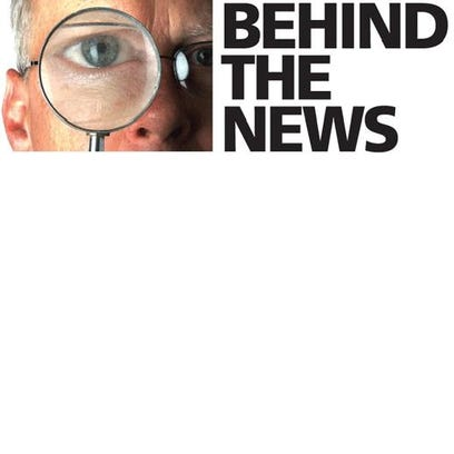 Behind the news logo