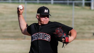 Muskego sophomore Jacob Leszczynski delivers a pitch during the sectional final against Oak Creek at South Milwaukee on Monday, July 16, 2018.