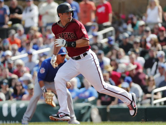 Paul Goldschmidt breaks for second base during a spring training game earlier this month.