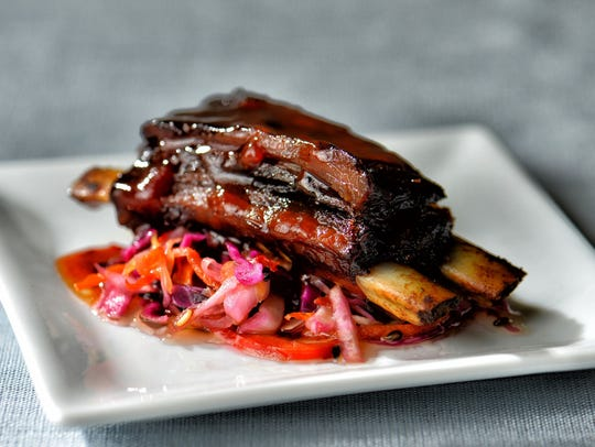 Barbecued short rib
