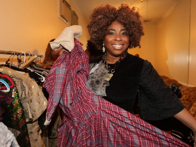 Hope Wade, a fashion designer from Pomona, is pictured