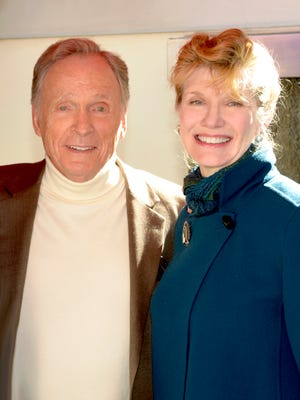 Dick Cavett with his wife, Martha Rogers.