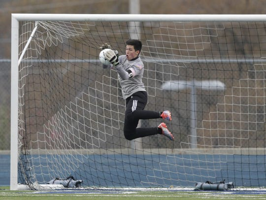 Glendale senior goalkeeper Nicholas Lantz was named