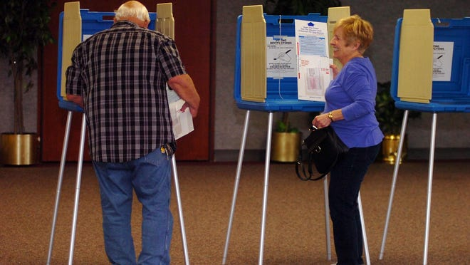 David and Carolyn Wojjtowicz voted together at the Costic Center.