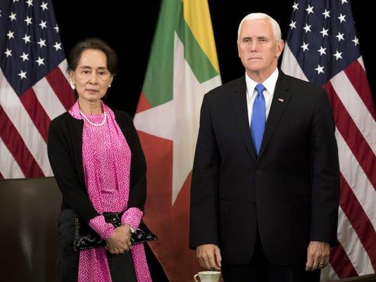 Mike Pence,Aung San Suu Kyi