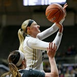 Bree Horrocks returned to the Purdue lineup this past Monday night after a knee injury.