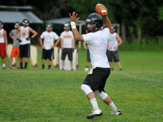 Berne Union and Amanda-Clearcreek played a 7-on-7 scrimmage Wednesday, July 23, 2014, in Sugar Grove.