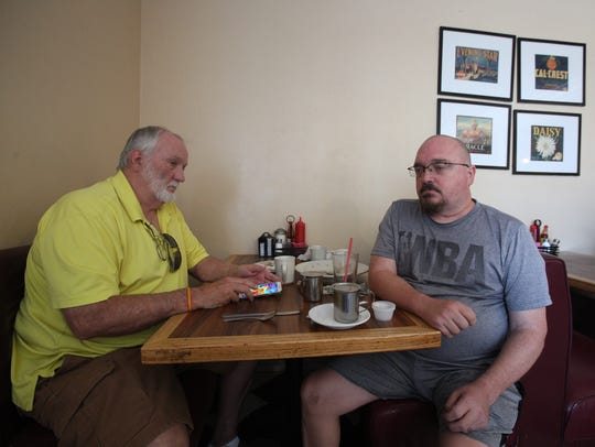 From left, retired U.S. Border Patrol agent Steve Trease
