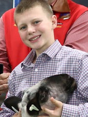 In this file photo, a competitor exhibits in the Wichita County Junior Livestock Show. The annual event will be 8 a.m. to 8 p.m. Jan. 12 and 13 at J.S. Bridwell Ag Center.