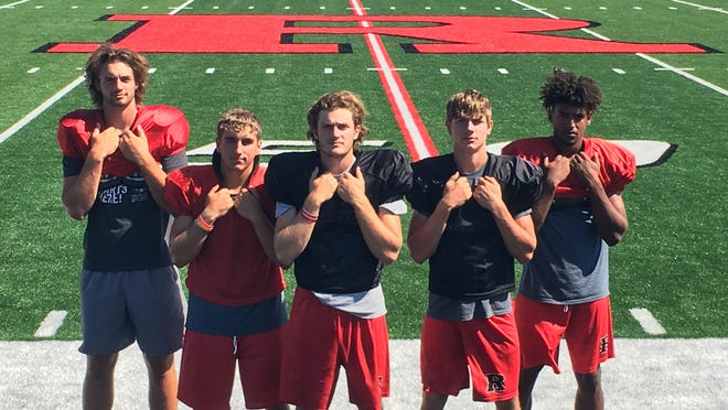 Rossville may have its best set of offensive playmakers since its title teams of 2014-16 in (left to right) senior Bo Reeves, senior Kaiden Brown, junior Torrey Horak, senior Woodrow Rezac and senior Tyree Sowers. The group helped the Bulldawgs average 417 yards and 37.8 points per game last year.