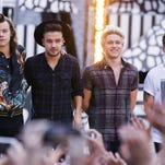 One Direction — Harry Styles, Liam Payne, Niall Horan and Louis Tomlinson — will play Ford Field on Saturday.