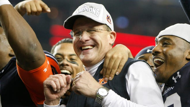 First-year Auburn head coach Gus Malzahn has won multiple national coach of the year awards after leading the Tigers to a berth in the BCS National Championship Game.