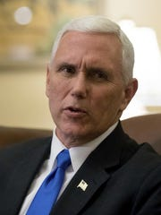 Vice President-elect Mike Pence speaks Nov. 30, 2016,