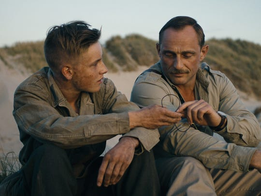 "Louis Hofmann (left) and Roland Møller star in ""Land of Mine."" The Danish film was nominated for best foreign-language film at this year's Academy Awards."