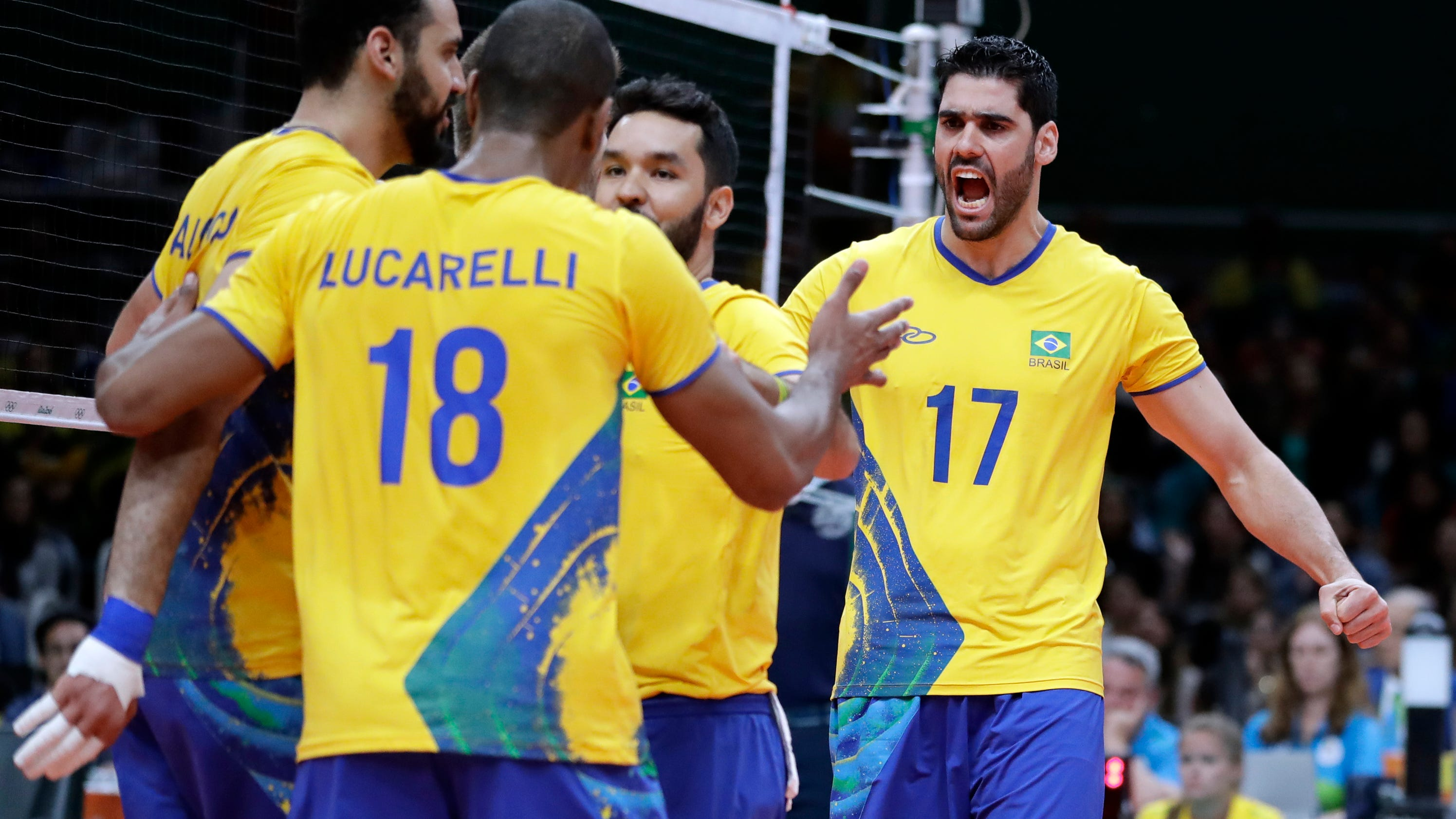 After 2 losses, US men volleyball stuns Brazil in 4 sets