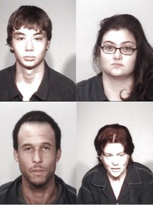 Top: Skylar Etheridge, Kelly Borham; Bottom: Jonathan Porter, Heather Wright