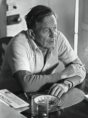 John Cheever at home in Ossining. Cheever's home, Afterwhiles,