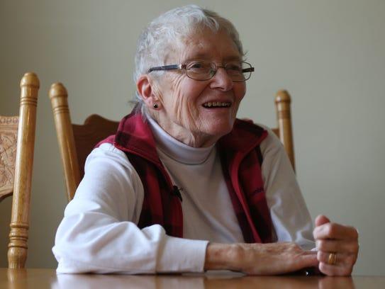 Carolyn Knapp, of Westfield, Iowa, talks about the