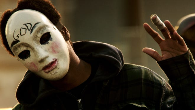 A scene from 'The Purge: Anarchy.' Social media campaigns have left citizens in many cities nervous about copycats.
