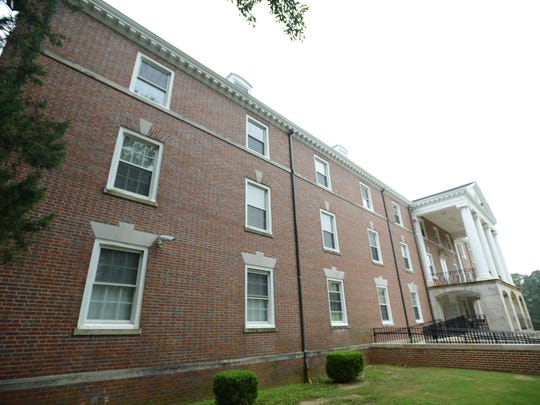 The Carney-Johnston Residence Hall at the University of Memphis Lambuth Campus. Elizabeth Holmes' mother lived on the bottom floor; her window is pictured at far left.