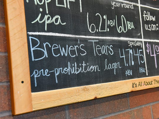 """Third Street Brewhouse's newest beer, dubbed """"Brewer's Tears,"""" will soon be on tap, as shown Thursday, June 1, in Cold Spring. The pre-Prohibition recipe by brewmaster Eugene Hermanutz was recently found in an old file cabinet at the brewery."""
