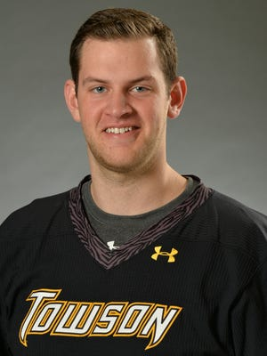 Corning East graduate Tyler White, a senior at Towson University.