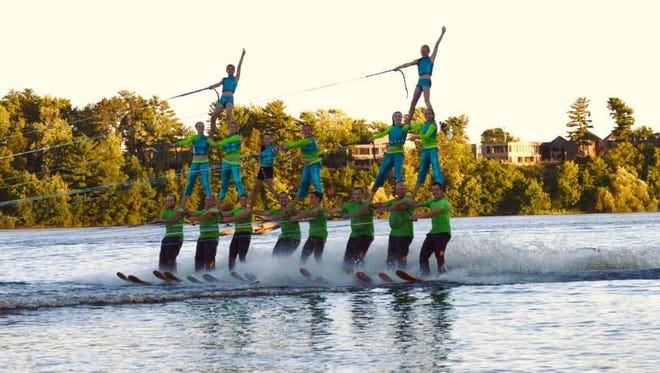 """The Central Wisconsin Water Ski Show Team presents """"The Water Walkers Kick It On Route 66"""" at 1 p.m. on Saturday at Hotchkiss Last Cast, C3899 Maryell Drive, Stratford."""