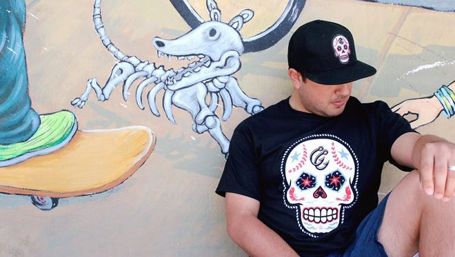The Corpus Christi Hooks collaborated with Brandiose, a California-based sports uniform company, to create Dia de los Muertos-inspired merchandise to premiere in April 2017.