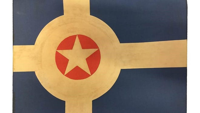 Indianapolis' city flag, as designed by Roger Gohl.
