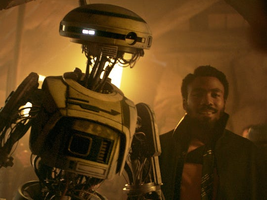 "Droid L3-37 (Phoebe Waller-Bridge) is partner and co-pilot to Lando (Donald Glover) in ""Solo: A Star Wars Story."""