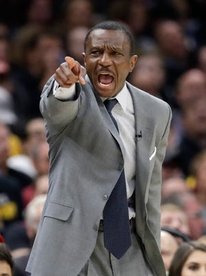 Dwane Casey as Toronto Raptors coach during the 2018 playoffs.
